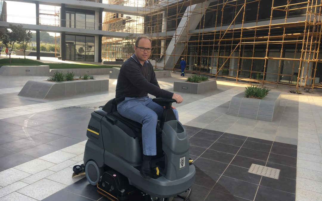 Karcher Ride On Scrubber for Construction Sites