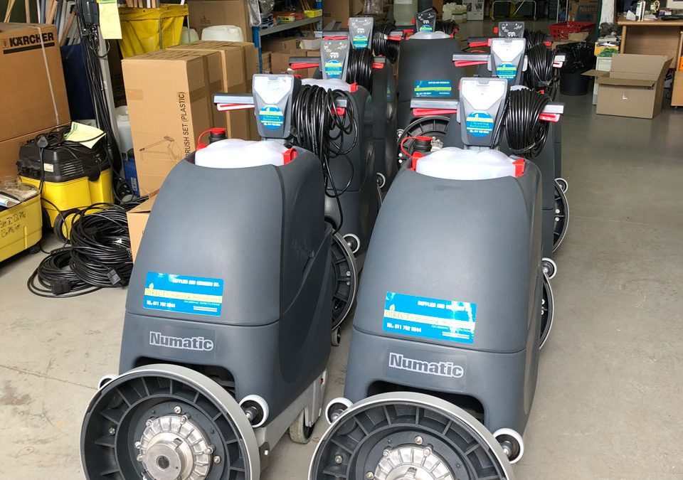 Numatic TT4045 Electric Auto Scrubbers for Hangars & Warehouses